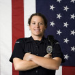 Smiling policewoman. — Stock Photo