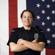 Smiling policewoman. - Stock Photo