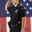 Policewoman saluting. — Stock Photo #9239386
