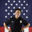 Woman police officer. — Stock Photo