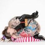 tatuerade kvinna — Stockfoto #9239837