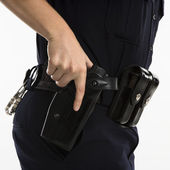 Armed policewoman. — Stock Photo