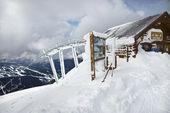Ski patrol office — Stock Photo