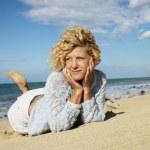 Woman on Maui beach — Stock Photo #9247969