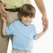 Boy with father. — Stock Photo