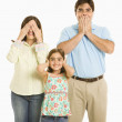 Family gesturing. — Stock Photo