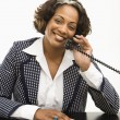 Businesswoman on telephone. — Stock Photo