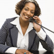 Stock Photo: Businesswoman on telephone.