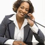 Businesswoman on telephone. — Stock Photo