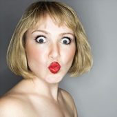 Woman looking surprised. — Stock Photo