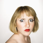 Woman looking confused. — Stock Photo