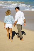 Couple on beach. — Stock Photo