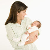 Mother holding baby. — Stock Photo