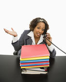 Woman working in office. — Stock Photo