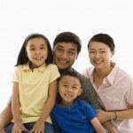 Asian family portrait. — Stock Photo