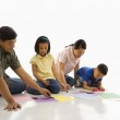 Family coloring. — Stock Photo
