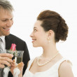 Bride and groom toasting. — Stock Photo #9250447