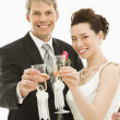 Royalty-Free Stock Photo: Bride and groom toasting.