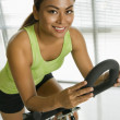 Stock Photo: Woman exercising.