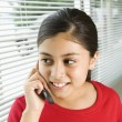Stock Photo: Girl on cell phone.