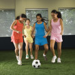 Girls playing soccer. — Stock Photo #9255014