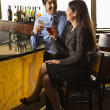 Couple at bar. — Stock Photo