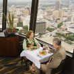 Mature couple dining. — Stock Photo
