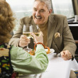 Mature couple toasting. — Stock Photo #9257834