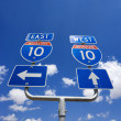 Interstate 10 sign. - Stock Photo