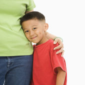 Boy with mother. — Stock Photo