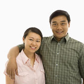 Smiling Asian couple. — Stock Photo