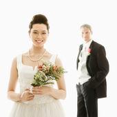 Bride and groom. — Stock Photo