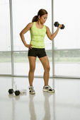 Female weightlifter. — Stock Photo