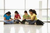 Girls doing homework. — Stock Photo