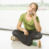 Girl on cell phone. — Stock Photo