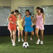 Girls playing soccer. — Stock Photo