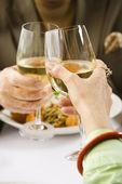 Couple toasting wine. — Stock Photo