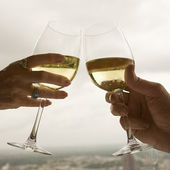 Couple toasting. — Stock Photo