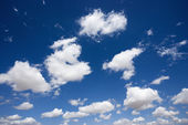 Fluffy clouds in sky. — Stock Photo