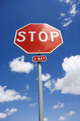 Stop sign. — Stock Photo