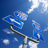 Interstate 10 sign. — Stock Photo