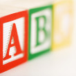 Alphabet blocks. — Stock Photo