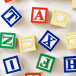 Alphabet toy blocks. — Stock Photo