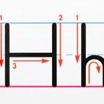 Handschrift-Praxis — Stockfoto