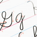 Cursive handwriting. — Stock Photo