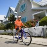 Man bicycling. — Stock Photo
