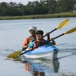 Couple kayaking. — Foto Stock