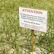 Environmental warning sign. - Stock Photo