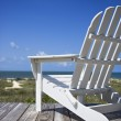 Stock Photo: Chair on beach deck.
