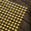 Dot pattern on wood. — Stock Photo